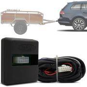 Módulo Automotivo para Iluminação de Engate Reboque Plug And Play Volkswagen Golf Variant 2014 15 16 17 18 Fácil Instalação Connect 1BE