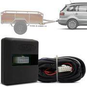 Módulo Automotivo para Iluminação de Engate Reboque Plug And Play Volkswagen SpaceFox 2011 12 13 14 15 16 17 Fácil Instalação Connect 1AZ