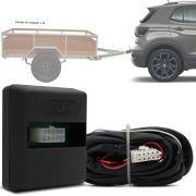 Módulo Automotivo para Iluminação de Engate Reboque Plug And Play Volkswagen T-cross Tcross 2019 20 21 Fácil Instalação Connect 1 CK