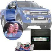 Módulo de Vidro Elétrico Sensorizado Ford Ranger 2013 14 15 16 Com Descida e Subida Automatizada na Porta Motorista LVX 10 AJ