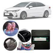 Módulo Subida de Vidro + Teto Solar + Tiltdown + Rebatimento de Retrovisor Toyota Corolla 2020 Em Diante Com Vidros Automáticos 4 Portas Com Rebatimento Retrovisor Controle Remoto PARK 6.9.2 DP