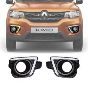 Moldura DRL Daylight Luz Diurna Com Seta Renault Kwid