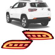 Moldura Traseira LED Refletor Jeep Compass 2017 18 19 20