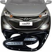 Kit Moldura Daylight Farol de Milha Hyundai Hb20 2012 13 14 15 Hb20s 2012 13 14 15