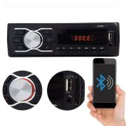 Mp3 Player Rádio Som Automotivo Cinoy Bluetooth 1 Din USB AUX SD CARD Mp3 Fm