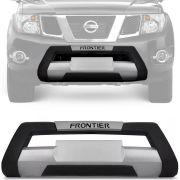 Kit Overbumper Bumper Front Bumper Nissan Frontier 2012 13 14 15 16 Preto com Prata