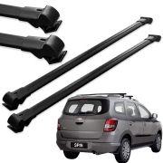 Par Travessa Teto Alumínio Chevrolet Spin 2012 13 14 15 16 17 18 Preta