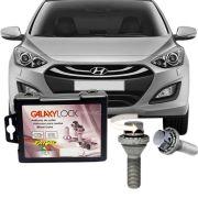 Trava Antifurto Anti Roubo de Roda Parafuso Porca Farad Galaxylock Hyundai I30 2014 em Diante Com Mais de 10.000 Segredos