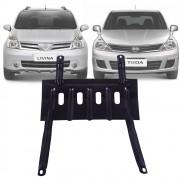 Protetor de Carter Completo Nissan Tiida Livina Com Parafusos Fixadores