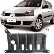 Protetor de Carter Completo Renault Clio 1999 Até 2012 Kangoo 2003 Até 2017 Com Parafusos Fixadores