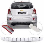 Protetor de Porta Malas Cromado Flash Chevrolet Captiva 2008 09 10 11 12 13 14 15