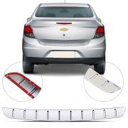 Protetor de Porta Malas Cromado Flash Chevrolet Prisma 2013 14 15 16 17 18 19