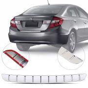 Protetor de Porta Malas Cromado Flash Honda Civic 2013 14 15 16