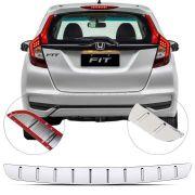 Protetor de Porta Malas Cromado Flash Honda Fit 2017 18 19