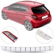 Protetor de Porta Malas Cromado Flash Peugeot 208 2013 14 15 16