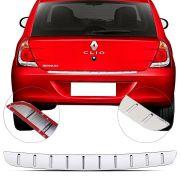 Protetor de Porta Malas Cromado Flash Renault Clio Hatch 2006 07 08 09 10 11 12 13 14 15