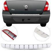 Protetor de Porta Malas Cromado Flash Renault Clio Sedan 2000 01 02 03 04 05 06 07 08 09