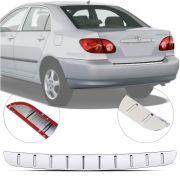 Protetor de Porta Malas Cromado Flash Toyota Corolla 2003 04 05 06 07 08
