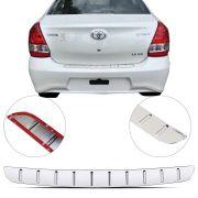 Protetor de Porta Malas Cromado Flash Toyota Etios Sedan 2012 13 14 15 16