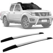 Rack de Teto Longarina Decorativa Nissan Frontier 2008 09 10 11 12 13 14 15 16 17 18 19 Prata Tg Poli