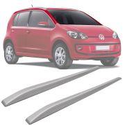 Rack de Teto Longarina Slim Decorativo Volkswagen Up 2014 15 16 17 18 19 Prata Preto 2 Peças Fácil Aplicação Dupla Face