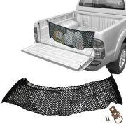 Rede CargoBag Elástica de Contenção Bagagem Para Caçamba de Pickup Pick Up CargoNet Preta Universal Toyota Hilux