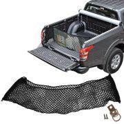Rede CargoBag Elástica de Contenção Bagagem Para Caçamba de Pickup Pick Up CargoNet Preta Universal Mitsubishi L200 L-200
