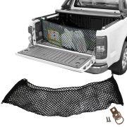 Rede CargoBag Elástica de Contenção Bagagem Para Caçamba de Pickup Pick Up CargoNet Preta Universal Chevrolet S10 S-10