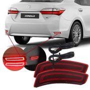 Refletor Traseiro LED Toyota Corolla 2015 16 17 18 19 Encaixe Original