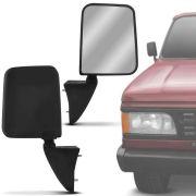 Retrovisor Para Reposição Chevrolet D20 1991 92 93 94 95 96 Preto Sem Controle