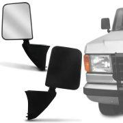 Retrovisor Para Reposição Ford F1000 1990 91 92 93 94 95 96 97 Preto Sem Controle
