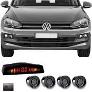 Sensor de Estacionamento Volkswagen Polo 2018 2019 Com Alerta Sonoro