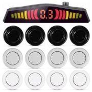 Sensor de Ré Estacionamento 4 Pontos Com Visor Lcd