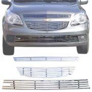 Sobre Grade Chevrolet Agile 2009 A 2013 Cromada Aço Inox