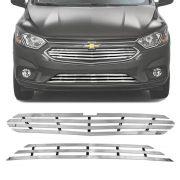 Sobre Grade Chevrolet Onix 2017 A 2019 Cromada Aço Inox Max