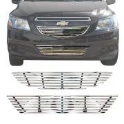 Sobre Grade Chevrolet Onix LT LTZ 2013 A 2016 Cromada Aço Inox Elite