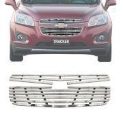 Sobre Grade Chevrolet Tracker 2013 A 2015 Cromada Aço Inox Slim
