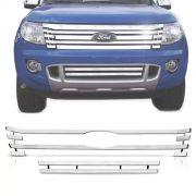 Sobre Grade Ford Ranger 2013 A 2016 Cromada Aço Inox Max