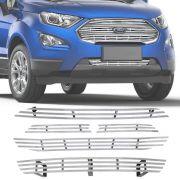 Sobre Grade Ford Ecosport 2018 A 2019 Cromada Aço Inox Slim