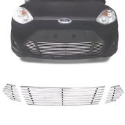 Sobre Grade Ford Fiesta 2011 A 2013 Cromada Aço Inox Slim