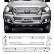 Sobre Grade Ford Ranger 2017 A 2019 Cromada Aço Inox Max
