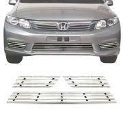 Sobre Grade Honda Civic 2012 A 2014 Cromada Aço Inox Elite