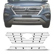 Sobre Grade Hyundai Creta 2017 A 2019 Cromada Aço Inox Max