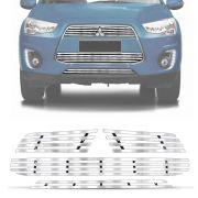 Sobre Grade Mitsubishi ASX 2013 A 2015 Cromada Aço Inox Elite