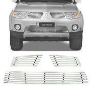 Sobre Grade Mitsubishi L200 Triton 2013 Cromada Aço Inox Elite