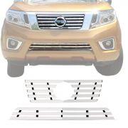 Sobre Grade Nissan Frontier 2017 Em Diante Cromada Aço Inox Max