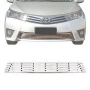 Sobre Grade Toyota Corolla 2014 A 2017 Cromada Aço Inox Elite
