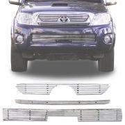 Sobre Grade Toyota Hilux 2005 A 2008 Cromada Aço Inox