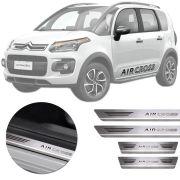 Soleira de Aço Inox Premium Escovado Citroen Aircross 2011 12 13 14 15 16 17 18 19