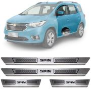 Soleira de Aço Inox Escovado Chevrolet Spin 4 Portas 2012 13 14 15 16 17 18 19